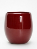Callisto Round red Plant Pot