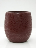 Callisto Structure Round red Plant Pot