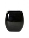 Callisto Square black Plant Pot