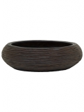 Capi Nature Bowl round rib II brown Plant Pot