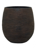 Capi Nature Pot rib ball II brown Plant Pot