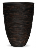 Capi Nature Vase elegance low rib II brown Plant Pot