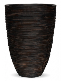 Capi Nature Vase elegance low rib III brown Plant Pot
