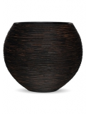 Capi Nature Vase ball rib I brown Plant Pot