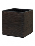 Capi Nature Egg planter square rib I brown Plant Pot