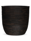 Capi Nature Egg planter rib II brown Plant Pot