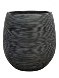 Capi Nature Pot rib ball I black Plant Pot