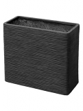 Capi Nature Planter rectangle I black Plant Pot