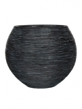 Capi Nature Vase ball rib I black Plant Pot