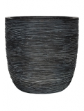 Capi Nature Egg planter rib I black Plant Pot