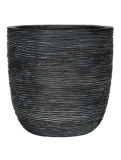 Capi Nature Egg planter rib II black Plant Pot