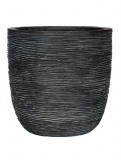 Capi Nature Egg planter rib III black Plant Pot