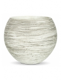 Capi Nature Vase ball rib III ivory Plant Pot