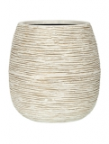 Capi Nature Pot rib ball II ivory Plant Pot