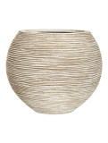 Capi Nature Vase ball rib I ivory Plant Pot