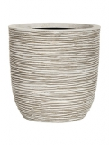 Capi Nature Egg planter rib I ivory Plant Pot