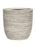 Capi Nature Egg planter rib II ivory Plant Pot