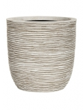 Capi Nature Egg planter rib III ivory Plant Pot