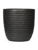 Capi Nature Row Pot round anthracite Plant Pot