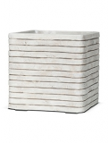 Capi Nature Row Pot square ivory Plant Pot