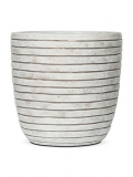 Capi Nature Row Pot round ivory Plant Pot