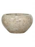 Geo Crown Cappuccino marble Plant Pot