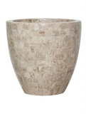 Geo Cup Cappuccino marble Plant Pot
