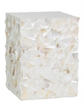 Coast Pedestal White mother of pearl Plant Pot