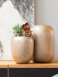 Woody Vase Gold/brown Plant Pot