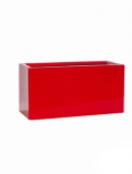 Fibrestone Glossy red rectangular balcony S Plant Pot