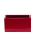 Fibrestone Mini Glossy red jort (2) Plant Pot
