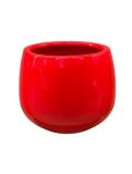 Fibrestone Mini Glossy red kevan Plant Pot