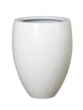 Fibrestone Glossy white bond Plant Pot