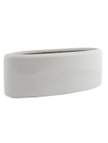 Fibrestone Glossy white jolin mini Plant Pot