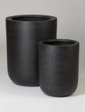 Fibrestone Dice black (2) Plant Pot