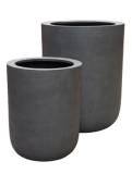 Fibrestone Dice grey (2) Plant Pot