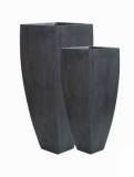 Fibrestone Ace grey (2) Plant Pot