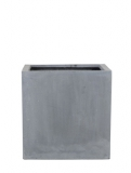 Fibrestone Block grey M Plant Pot