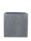 Fibrestone Block grey L Plant Pot