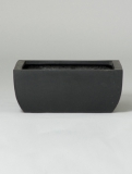 Fibrestone Sphere black Plant Pot