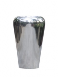 Polished Aluminium Conical facet Plant Pot