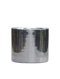 Polished Aluminium Cylinder Plant Pot