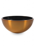 Aluminium Bowl Aluminium brushed gold-orange Plant Pot