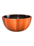 Aluminium Bowl Aluminium brushed red-orange Plant Pot
