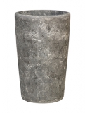 Polystone Timeless Round lava raw grey Plant Pot