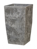 Polystone Timeless Square lava raw grey Plant Pot