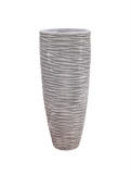Polystone Partner seaside lava raw grey Plant Pot