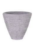 Polystone Couple seaside lava raw grey Plant Pot