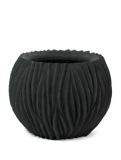 River Bowl black Plant Pot