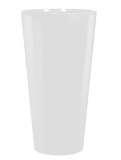 Runner Round RAL 9010 white Plant Pot